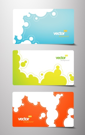 Set of gift cards with bubbles signs. Stock Vector - 11915010