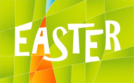 easter sign: Happy Easter sign with colorful stripes.