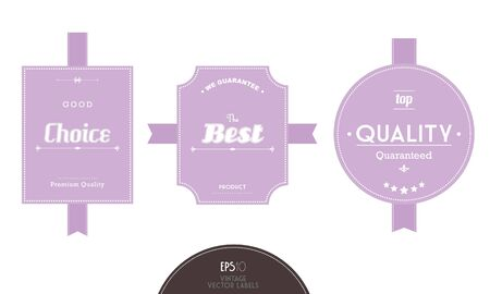 Set of vintage labels. Vector