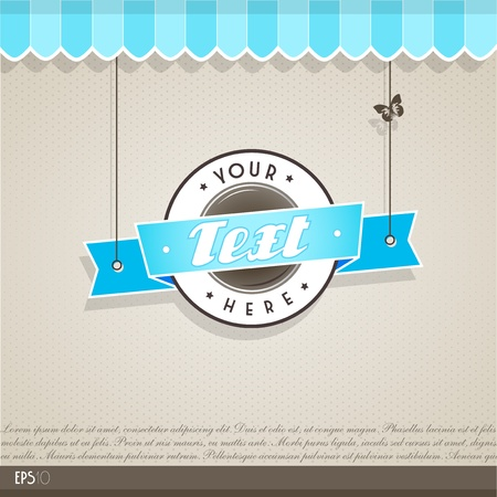 menu template: Vintage vector background with place for your text.  Illustration
