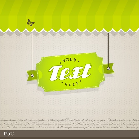 Vintage vector background with place for your text. Stock Vector - 12816438