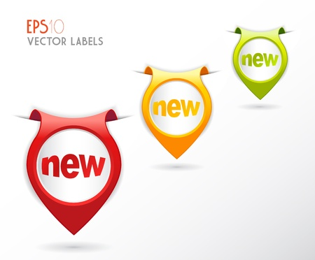 feedback sticker: Set of colorful labels  Illustration