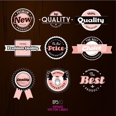 Set of vintage labels.  Illustration