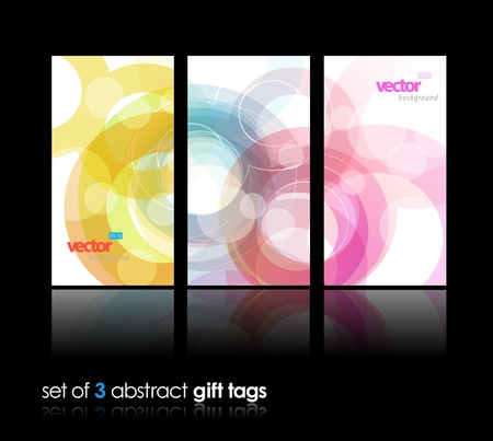 Set of abstract colorful circle illustrations.  Illustration