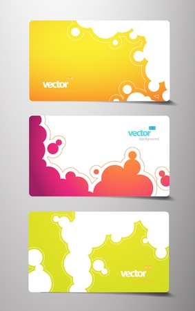 Set of gift cards with bubbles signs. Stock Vector - 13080012