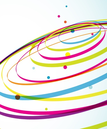 Abstract colorful background with circles. Illustration
