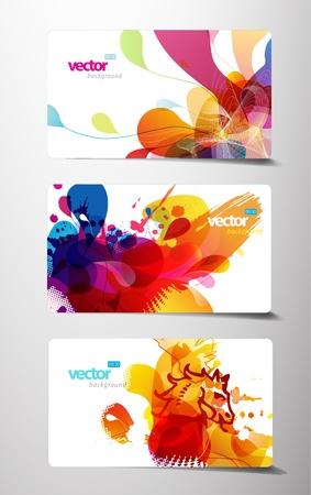 Set von abstrakten bunten Geschenk-Karten.