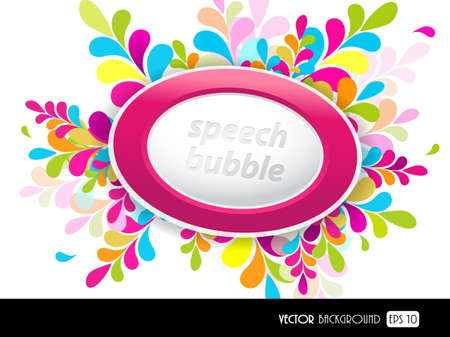 Purple speech bubble for your text.  Vector