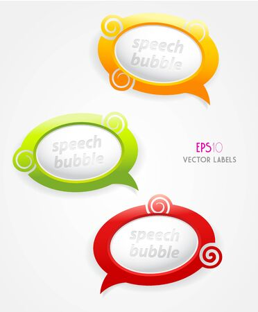 feedback sticker: Set of speech bubbles.  Illustration