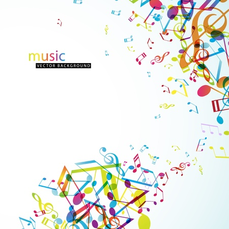musik hintergrund: Zusammenfassung Hintergrund mit bunten Melodien.