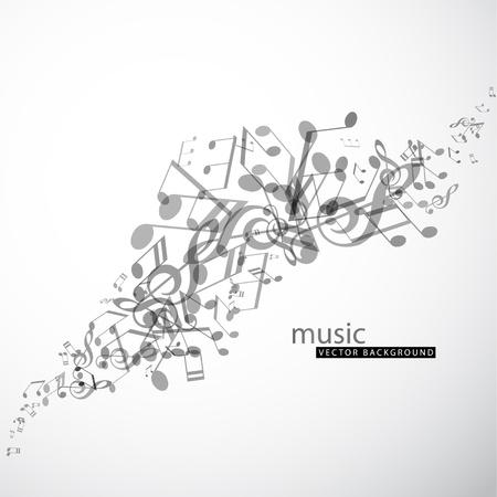 music design: Resumen de fondo con canciones.