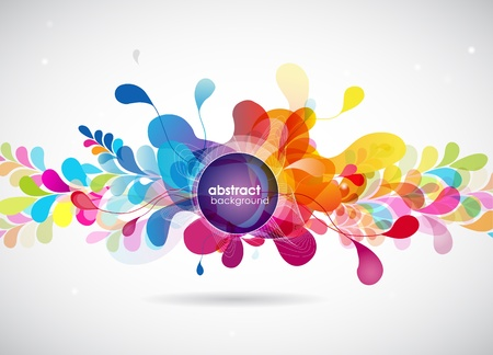 abstract colored background with circles.  Vector