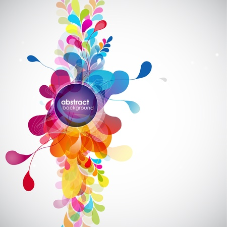 color spectrum: abstract colored background with circles.