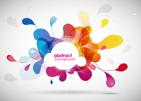 rainbow circle: abstract colored background with circles.