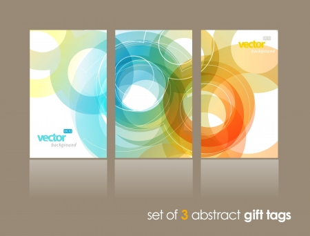 Set of abstract colorful circle illustrations.  Illusztráció