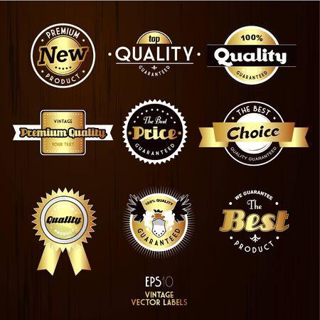 Set of vintage labels.  Vector