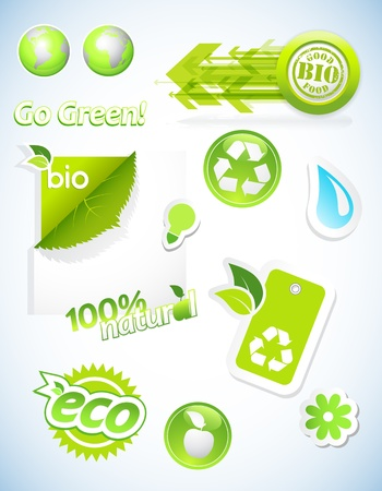 Set of ecology icons. Vector
