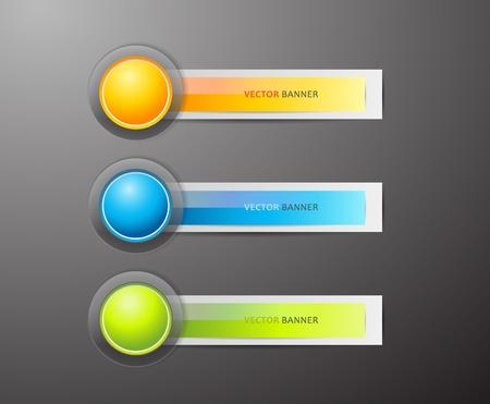 sign orange: Set of colorful labels.  Illustration