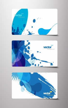 Set of abstract colorful cards. Vector