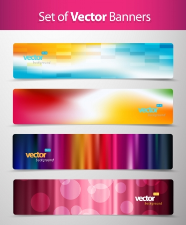 Set of abstract colorful web headers. Imagens - 14799364