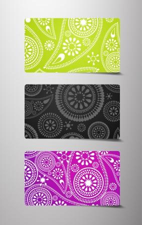 Set of flower cards. Vector