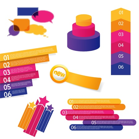 Set of colorful labels.