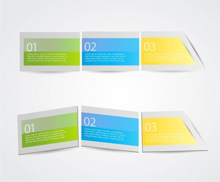 Set of colorful labels. Vector