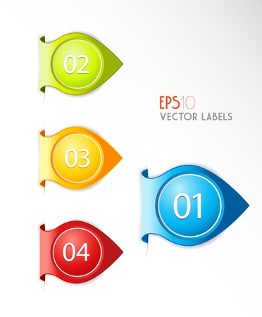 description: Banners with numbers and place for own text. Illustration