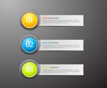 Banners with numbers and place for own text. Vectores
