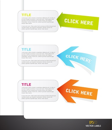 Set of arrows with labels for your own text. Vector