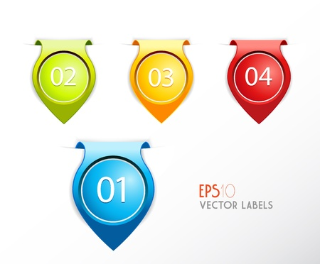 Set of badges with numbering. Vector
