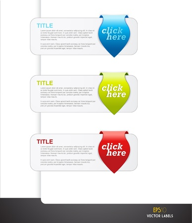 Set of arrows with labels for your own text. Stock Vector - 14799417