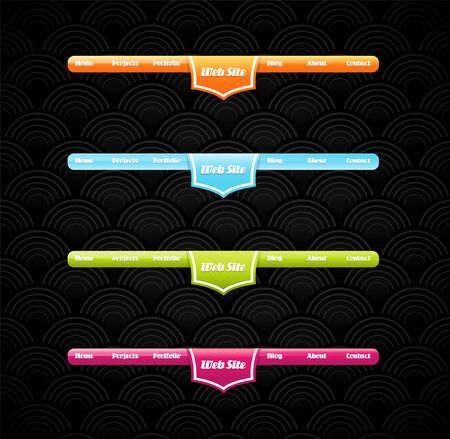 web site design template: Two stylish website banner templates.