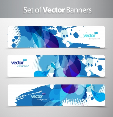 Set of abstract colorful web headers. Stock fotó - 14799416