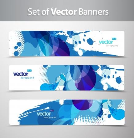 Set von abstrakten bunten Web-Header. Standard-Bild - 14799416