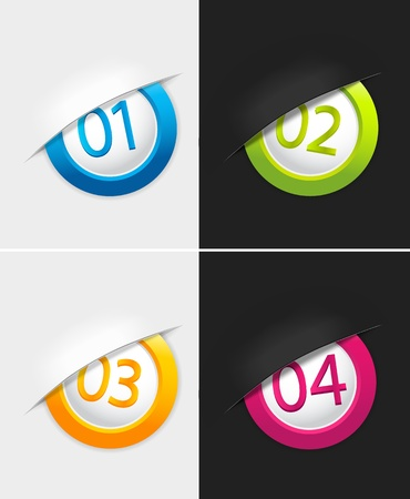 Badges with numbers.  Vector
