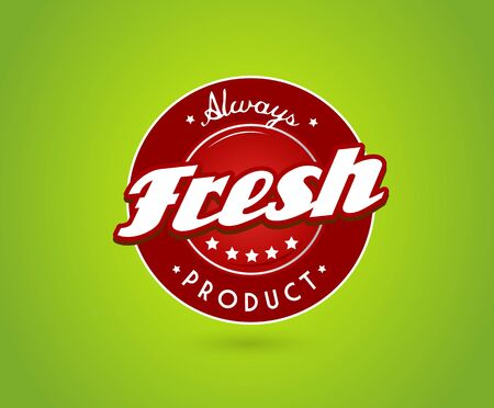 Green board with fresh product sign. Vector