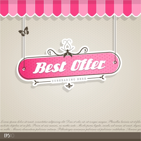new sale: Vintage vector background with place for your text.  Illustration