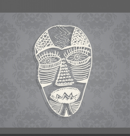 venetian mask: Art face made from lines.