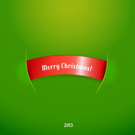 page curl: Red stripe with christmas text.