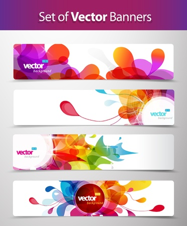 Set of abstract colorful web headers. Stock Vector - 17680206