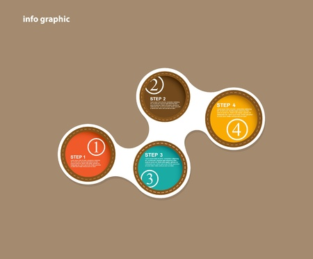 compare: Info graphic circles with place for your text.