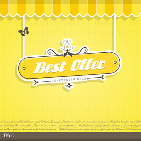 Vintage vector background with place for your text. Stock Vector - 17680165