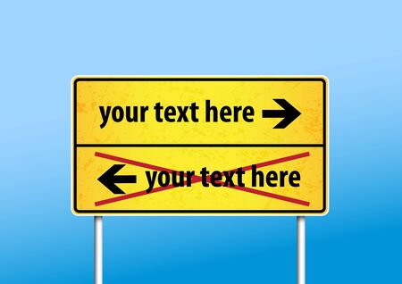 Yellow sign with place for your own text. Stock Vector - 17680023