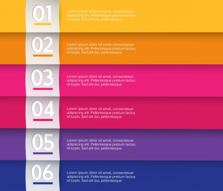 visual presentations: Set of colored stripes with place for your own text.