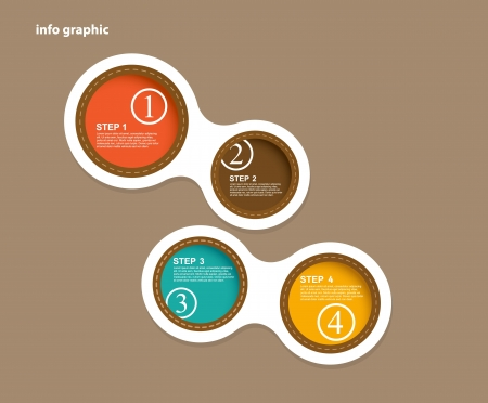 Info graphic circles with place for your text.  Vector