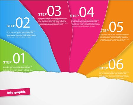 Set of colored papers with place for your own text. Stock Vector - 17680158