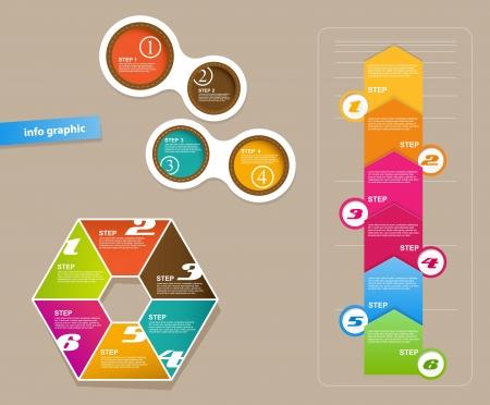 Set Infografik Objekte mit Nummern.