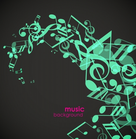 Abstract background with green tunes. Vector