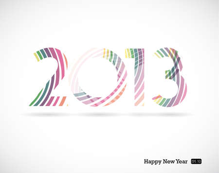 2013 and Happy New Year Stock Vector - 17680095